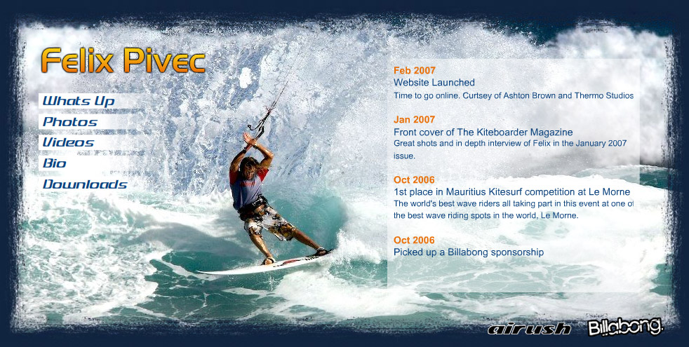 web design for extreme sports athlete