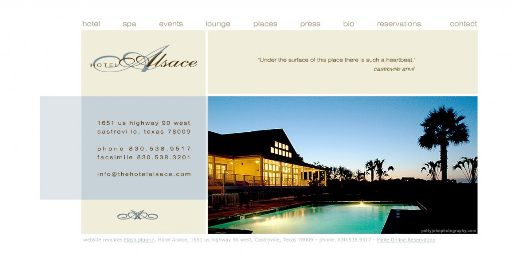 Website design for hotels thermo studios for Designhotel elsass