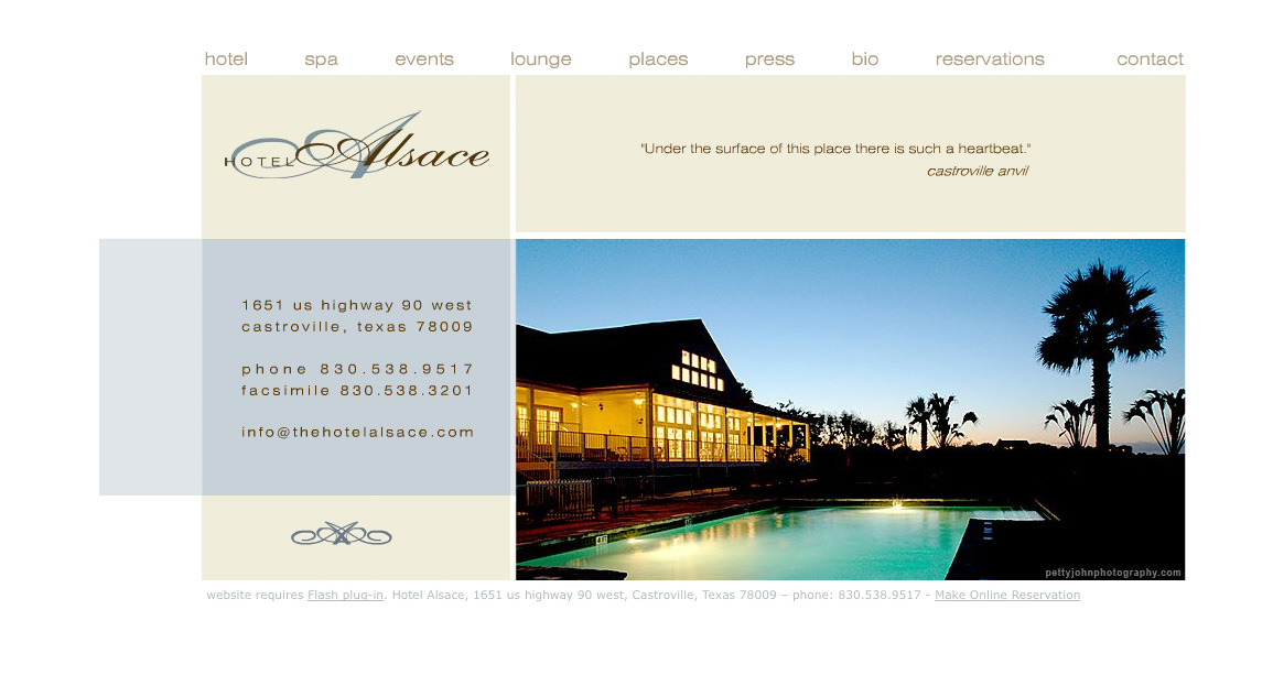 Website design for hotels thermo studios for Hotel web design
