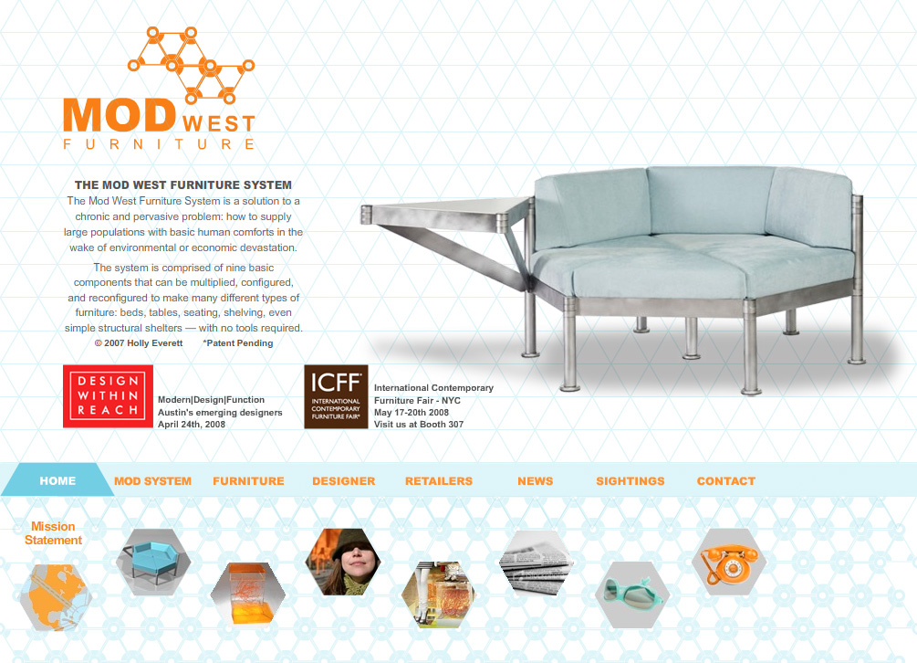 Website Design for furniture design industry Thermo Studios